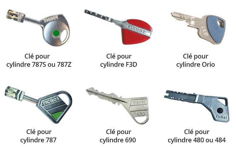 Clés pour cylindres Fichet