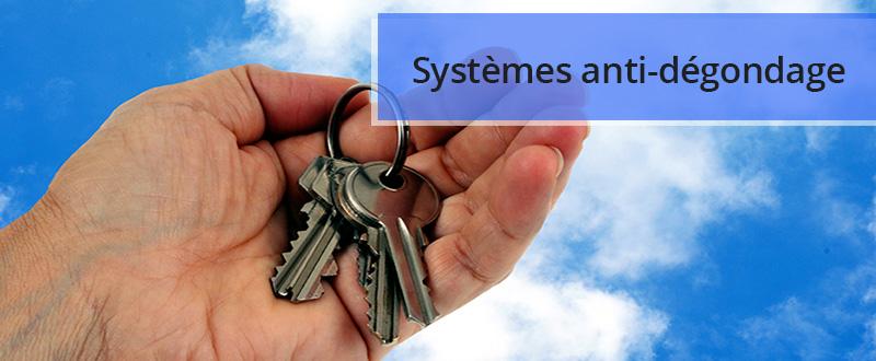 Systèmes anti-dégondage ou anti-soulèvement de porte