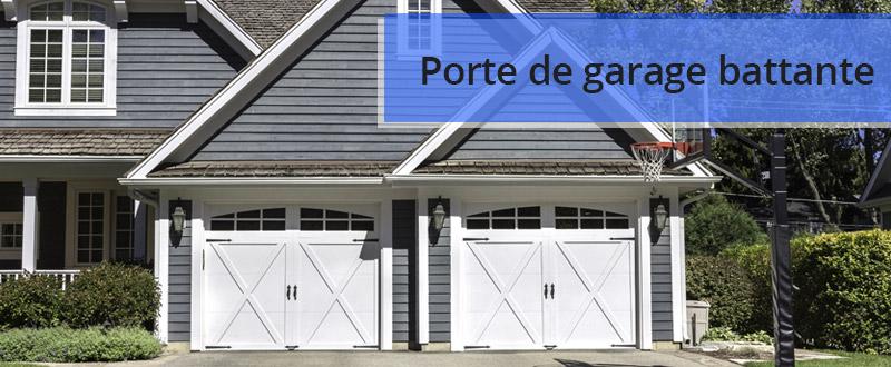 Avantages et inconvénients de la porte de garage battante